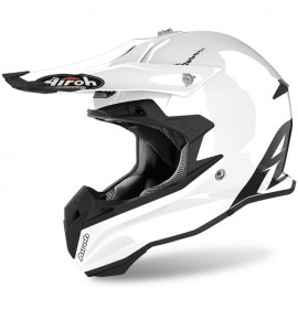 Мотошлем Airoh TERMINATOR Open Vision white gloss